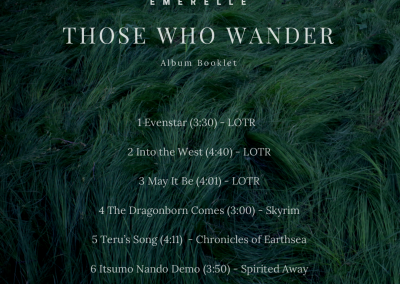 Those Who Wander Album Booklet